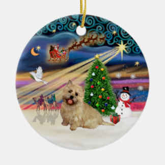 Xmas Magic - Cairn Terrier (wheaten 13) Christmas Ornament