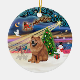 Xmas Magic - Chow Chow (red) Christmas Ornament