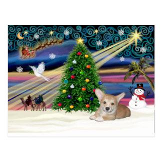 Xmas Magic-Corgi Pup Postcard
