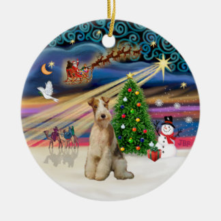 Xmas Magic - Fox Terrier (Wire 3) Christmas Ornament