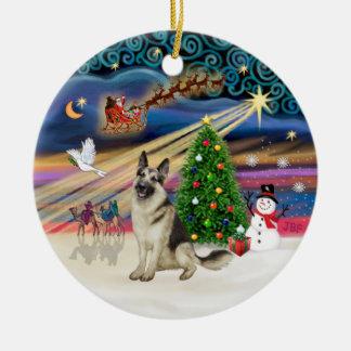 Xmas Magic - German Shepherd 9 Christmas Ornament
