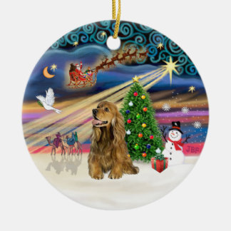 Xmas Magic - Honey Brown Cocker Spaniel Christmas Ornament