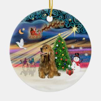 Xmas Magic - Honey Brown Cocker Spaniel Christmas Ornament