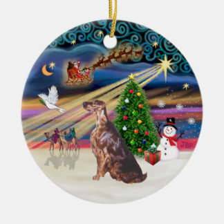 Xmas Magic - Irish Setter Christmas Ornament