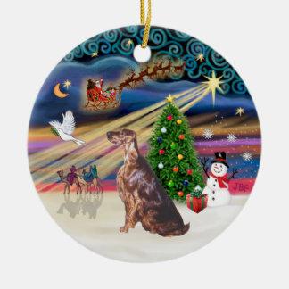 Xmas Magic - Irish Setter Christmas Ornament