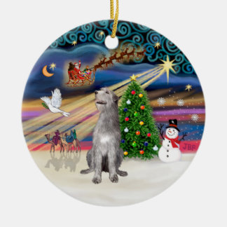 Xmas Magic - Irish Wolfhound Christmas Ornament