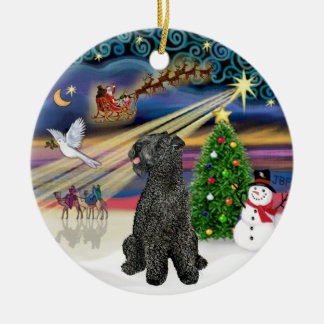 Xmas Magic - Kerry Blue Terrier Christmas Ornament