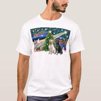 Xmas Magic-Lab Pair-Yell-Blk T-Shirt