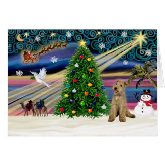 Xmas Magic-Lakeland Terrier Card
