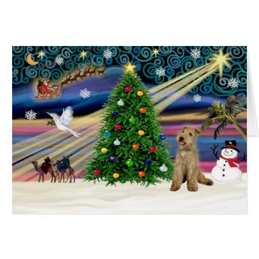 Xmas Magic-Lakeland Terrier Greeting Card