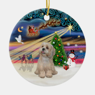 Xmas Magic - Lhasa Apso (R2) Christmas Ornament