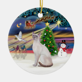Xmas Magic - Lilac Point Siamese Christmas Ornament