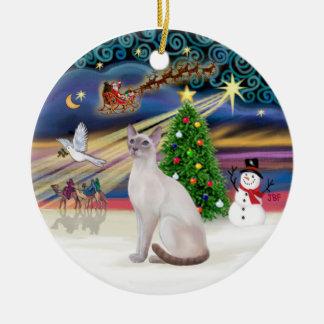 Xmas Magic - Lilac Point Siamese Ornament