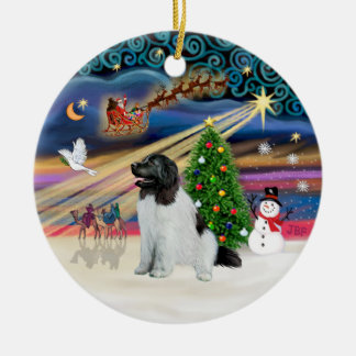 Xmas Magic - Newfoundland (Landseer #1) Christmas Ornament