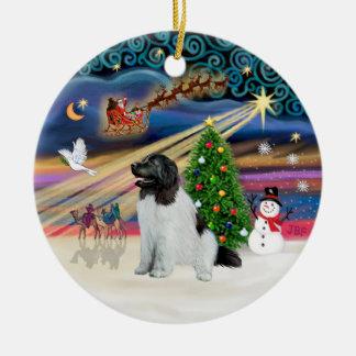 Xmas Magic - Newfoundland (Landseer #1) Christmas Ornament