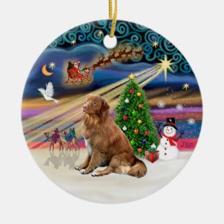 Xmas Magic - Nova Scotia Duck Tolling Retriever Christmas Ornament