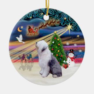 Xmas Magic - Old English Sheepdog 1 Christmas Ornament