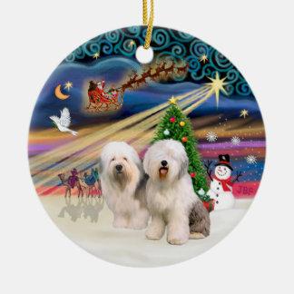 Xmas Magic - Old English (two) Christmas Ornament