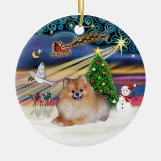 Xmas Magic - Pomeranian 4 Christmas Ornament