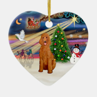 Xmas Magic - Poodle (Standard apricot) Christmas Ornament