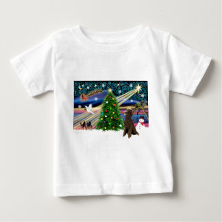 Xmas Magic-Poodle-Std-Choc-Hntr Baby T-Shirt