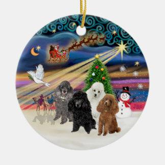 Xmas Magic - Poodles (FOUR TOY) Christmas Ornament