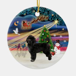 Xmas Magic - Portuguese Water Dog (R) Christmas Ornament
