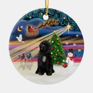 Xmas Magic - Portuguese Water Dog (R-sit) Christmas Ornament
