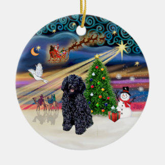 Xmas Magic - Puli 5 Round Ceramic Decoration