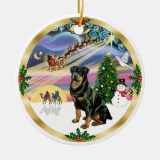 Xmas Magic - Rottweiler 3 Christmas Ornament