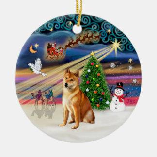 Xmas Magic -  Shiba Inu 7 Christmas Ornament