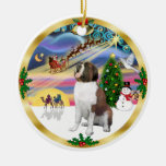 Xmas Magic - St. Bernard 1 Christmas Ornaments