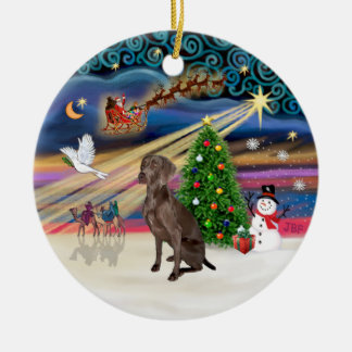 Xmas Magic - Weimaraner #A7 Christmas Ornament