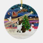 Xmas Magic - Welsh Corgi (Cardigan) Christmas Ornaments