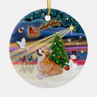 Xmas Magic - Welsh Corgi (Pembroke 7b) Christmas Ornament