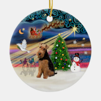 Xmas Magic - Welsh Terrier Christmas Ornament