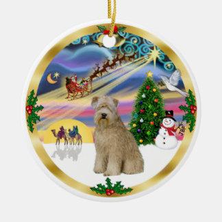 Xmas Magic-Wheaten Terrier 8 Christmas Ornament