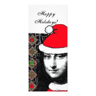 Xmas Mona Lisa rack card