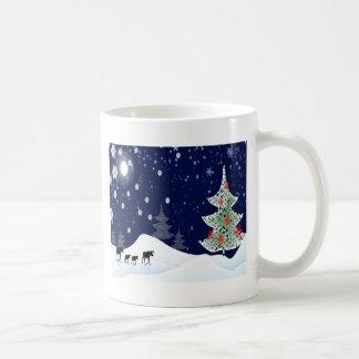 Xmas Moose Basic White Mug