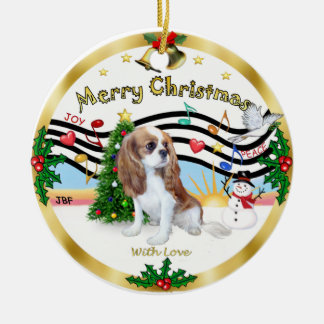 Xmas Music 1 - Cavalier (Blenheim) Christmas Ornament