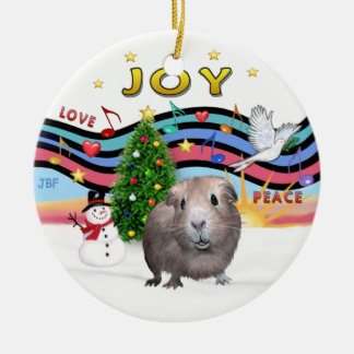 Xmas Music 1 -  Guinea Pig #2 Christmas Ornament