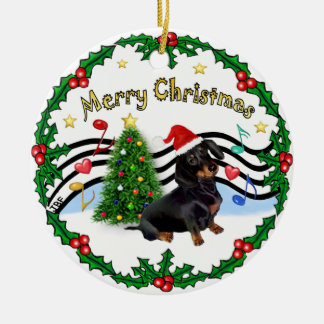 Xmas Music 1 - MC - Dachshund (BT) Christmas Ornament