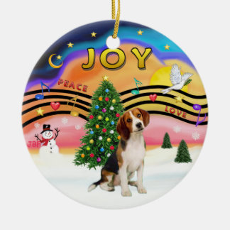 Xmas Music 2 - Beagle Christmas Ornament