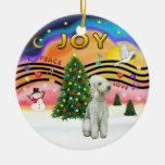 Xmas Music 2 - Bedlington Terrier Christmas Ornaments