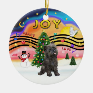 Xmas Music 2 - Cairn Terrier (brindle 21) Ornament
