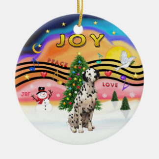Xmas Music 2 - Dalmatian Christmas Ornament