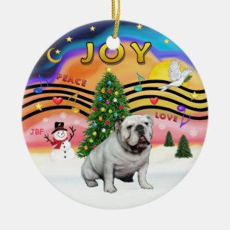 Xmas Music 2 - English Bulldog (white) Christmas Ornament