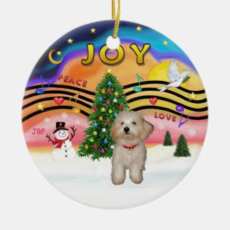 Xmas Music 2 - Havanese puppy Christmas Ornament
