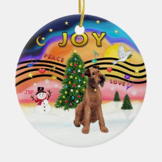Xmas Music 2 - Irish Terrier Christmas Ornament
