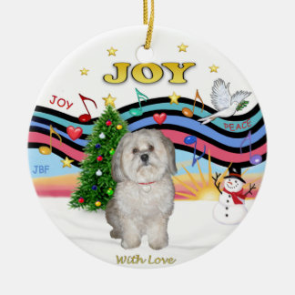 Xmas Music - Havanese (F) Christmas Ornament